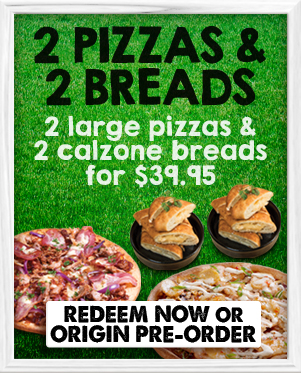 2 Pizzas 2 Breads